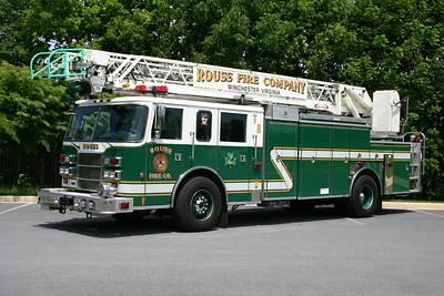 Rouss runs two ladder trucks, Truck 2 and Ladder 2.  Truck 2 is this 1998 Pierce Dash 75' rearmount.