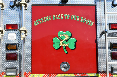 """""""Getting Back To Our Roots"""" - representing the Rouss Fire Company getting back into the """"Squad"""" business.  Found on Squad 2, a 2001 FL 70/Pierce."""