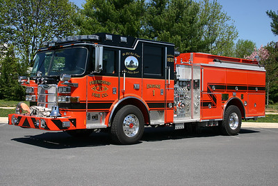 In May of 2010, arrangements were made to photograph most of the apparatus at Friendship.  The highlight for me that day was the new Engine 1.  Engine 1 is a 2010 Pierce Arrow XT equipped with a 1250/1000.