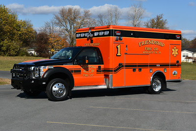 The Friendship Fire Company of Winchester, Virginia took delivery of their new Medic 1 in November of 2016.  It is a 2016 Ford F550 4x4/Horton.