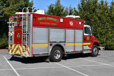 A back end view of Squad 2 in Winchester, Virginia.