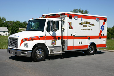 Former Medic 1 was this Freightliner 50/Horton. Photographed at Station 1 in 2013.  For sale in late 2016.