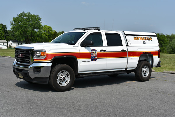 Winchester, Virginia Battalion 6, a 2018 GMC Sierra 2500 outfitted by Battlefield Emergency Vehicles in 2019.