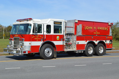Berryville, Virginia Tanker 1, a 2002 Pierce Dash 1250/2500 with job number 13496.