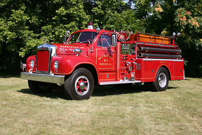 Former Engine 1 from Berryville.  The department still owns this beautiful 1965 Mack B85F 750/600, sn-1509.  This photo appeared on the cover of the Virginia Fire and EMS magazine.