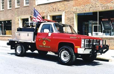 Former Brush 21, a 1985 Chevrolet/2001 FD, 350/200.  Sold to Boyce, Virginia (Clarke County).