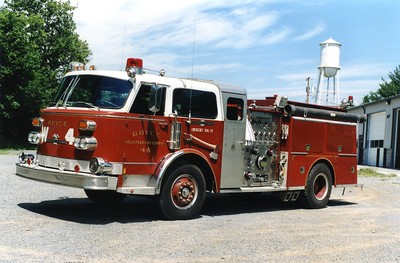 Former Wagon 4, a 1979 American LaFrance/1992 FD, 1500/750, sn- CE146309.  Sold to Moodyville, Tennessee (Fentress County).