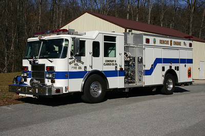 Rescue Engine 8 from Blue Ridge is a 2005 Pierce Dash, 1500/750, sn-17183.