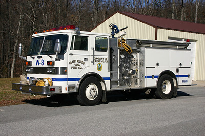 Former Wagon 8 was a unique 1990 Pierce Dash 4x4, 1250/750, sn- E5696.  Sold in April of 2017 to the Boles Fire District in Labadie, Missouri.