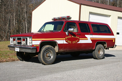 Utility 8 is a 1986 Suburban that was bought from the Franconia VFD in Fairfax County, Virginia.