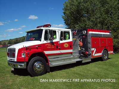 ADRIAN SANDY FIRE CO. SANDY TWP. ENGINE 38 1997 FRIEGHTLINER/NEW LEXINGTON PUMPER