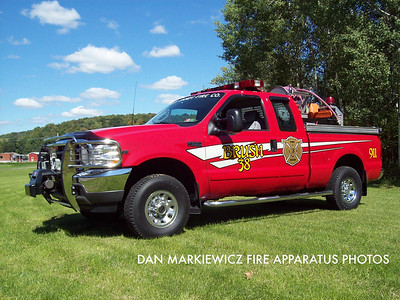 ADRIAN SANDY FIRE CO. SANDY TWP. BRUSH 38 2003 FORD/ASFC BRUSH UNIT