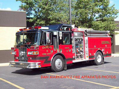 GOODWILL FIRE CO. DUBOIS ENGINE 75 1996 SUTPHEN PUMPER