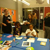 Craft making - Volunteers with children of the Girls' Leadership Institute, 2013