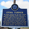 Otha Turner Blues Trail marker, Como