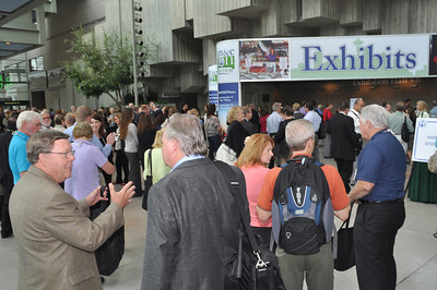 Build excitement for exhibit hall opening.