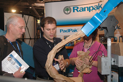Use your booth props to show your product in action.