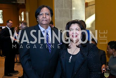 Ray and Shaista Mahmood. Photo by Tony Powell. From Oman to East Africa Dinner. Museum of African Art. April 16, 2014