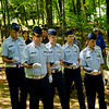 Young men of the Civil Air Patrol perform the ceremony.