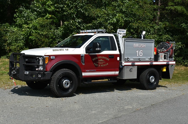 Reva, Virginia Brush 16 - a 2017 Ford F350/Matheny Fire & Emergency and equipped with a 225/230/10.  It replaced a 2004 Ford F350 pick up truck that has been reassigned as a department utility vehicle.