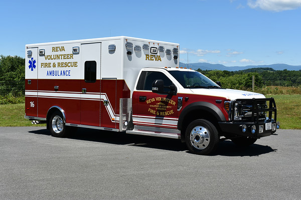 Reva, Virginia Ambulance 16 - 2018 Ford F550 4x4/2019 PL Custom.