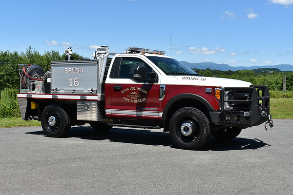 Brush 16 from Reva, Virginia is a 2017 Ford F350/Matheny Fire & Emergency.  Equipped with a 225/230/10.