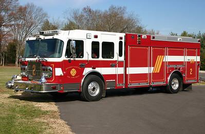 Engine 2 is a 2007 Spartan/2008 Smeal, 2000/1000/40,   ex-Buckhall VFD, Prince William County.