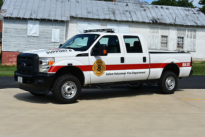 Salem VFD in Culpeper County.  Support 8 is a 2013 Ford F350.