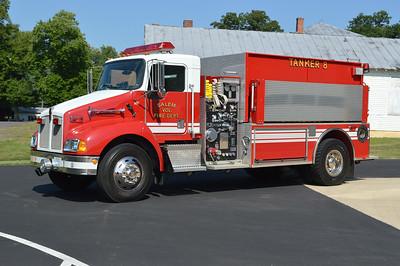 Tanker 8 is a 2000 KenWorth T300/Pierce, 750/2000, sn-11459.  ex- Chester Gap, VFD, Rappahannock County.