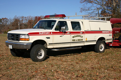 Support 6 is a 1995 Ford F-350/Work Master.