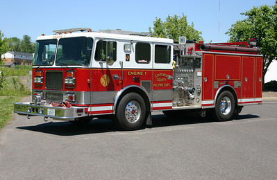 Former Engine 1 is this nice 1997 Seagrave TB50DA, 1500/750/40.  Sold to Chester Gap, VA in 2017.