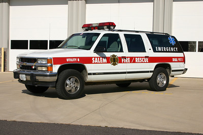 Utility 8 is a 1998 Chevy Suburban.