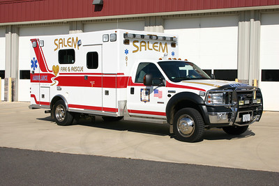 Ambulance 8-1 is a 2006 Ford F-450/Osage.