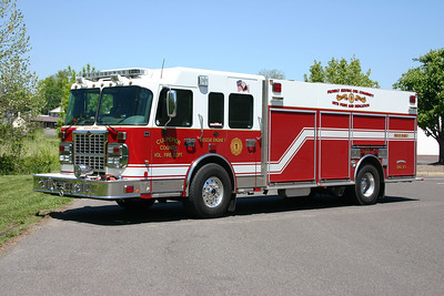 Rescue Engine 1 is a 2008 Spartan Gladiator/KME, 1750/500.