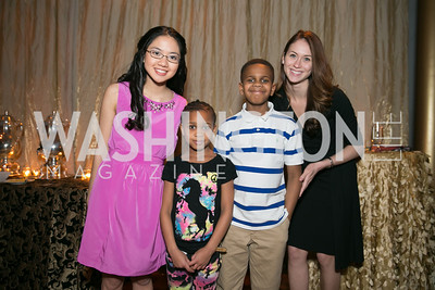 Jennifer Li, Nyree Crowell, Farrell Crowell, Lauryn Kalbermatten-Goldberg,. Photo by Alfredo Flores. DC-CAPital Stars Talent Competition. The John F. Kennedy Center for the Performing Arts. February 25, 2014.