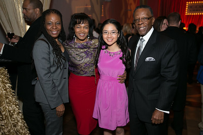 Yolanda Spiva, Paris Parrault, Jennifer Li, Herb Tillerly. Photo by Alfredo Flores. DC-CAPital Stars Talent Competition. The John F. Kennedy Center for the Performing Arts. February 25, 2014.