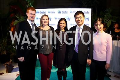 John Anderson, Amber Willis, Natasha, Robert Liu, Yifan Zhang. Photo by Tony Powell. DC Habitat's 25th Anniversary. Union Station. November 20, 2014