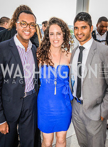 Abiye Abebe, Sarah Aburdeineh, Vinoda Basnayake, DC Vote hosts the First Annual, Three Star Ball.  National Association of Realtors Building Rooftop, May 22, 2014.  Photo by  Ben Droz.
