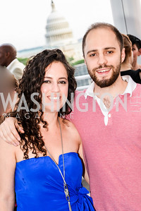 Sarah Aburdeineh, Ramsey Aburdeineh, DC Vote hosts the First Annual, Three Star Ball.  National Association of Realtors Building Rooftop, May 22, 2014.  Photo by  Ben Droz.