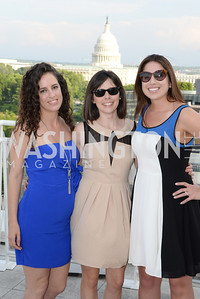 Sarah Aburdene, Pam Wyse, Leslie Barkemeyer, DC Vote hosts the First Annual, Three Star Ball.  National Association of Realtors Building Rooftop, May 22, 2014.  Photo by  Ben Droz.