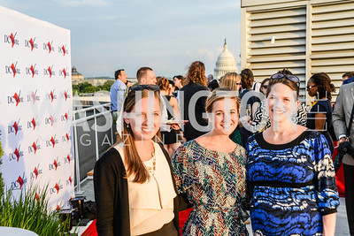 Roxana Boyd, Sam Martin, Amy Smith, DC Vote hosts the First Annual, Three Star Ball.  National Association of Realtors Building Rooftop, May 22, 2014.  Photo by  Ben Droz.
