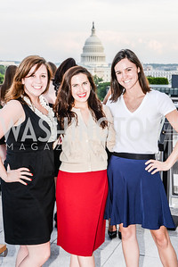 Kate O'Neill, MacKenzie Babb, Christine Boston, DC Vote hosts the First Annual, Three Star Ball.  National Association of Realtors Building Rooftop, May 22, 2014.  Photo by  Ben Droz.
