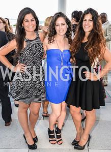 Maha Hakki, Sarah Aburdeineh, Dannia Hakki, DC Vote hosts the First Annual, Three Star Ball.  National Association of Realtors Building Rooftop, May 22, 2014.  Photo by  Ben Droz.