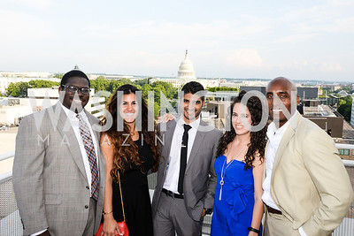 Donald Sherman, Dannia Hakki, Vinoda Basnayake, Sarah Aburdene, Edward Smith, DC Vote hosts the First Annual, Three Star Ball.  National Association of Realtors Building Rooftop, May 22, 2014.  Photo by  Ben Droz.