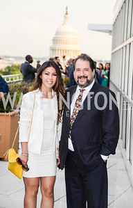 Rema Zadah, Paul Strauss, DC Vote hosts the First Annual, Three Star Ball.  National Association of Realtors Building Rooftop, May 22, 2014.  Photo by  Ben Droz.
