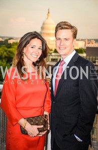 Christina Sawicky Mazurkevich, Dorian Mazurekevich, DC Vote hosts the First Annual, Three Star Ball.  National Association of Realtors Building Rooftop, May 22, 2014.  Photo by  Ben Droz.