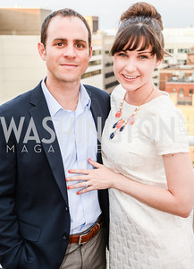 Ryan Tomery, Hillary Tomery, DC Vote hosts the First Annual, Three Star Ball.  National Association of Realtors Building Rooftop, May 22, 2014.  Photo by  Ben Droz.