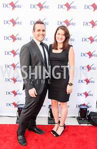 Brandon Roman, Emily Bardales, DC Vote hosts the First Annual, Three Star Ball.  National Association of Realtors Building Rooftop, May 22, 2014.  Photo by  Ben Droz.