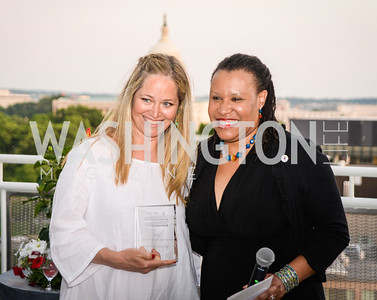Nancy Bagley, Kimberly Perry, DC Vote hosts the First Annual, Three Star Ball.  National Association of Realtors Building Rooftop, May 22, 2014.  Photo by  Ben Droz.