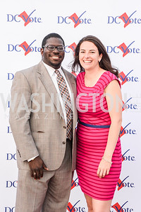 Donald Sherman, Caitlin Coogan, DC Vote hosts the First Annual, Three Star Ball.  National Association of Realtors Building Rooftop, May 22, 2014.  Photo by  Ben Droz.